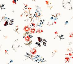 source : behance _  flowers pattern  for a fabric  (for incity fashion brand) on behance  illustration graphisme floral fleurs flowers