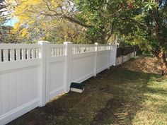 #Farm #fencing - #Residential White Mystique Privacy Fencing with Vertical Lattice!