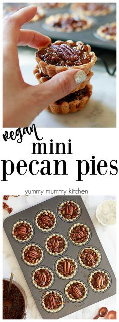 Mini Pecan Pies are the perfect dessert for holiday parties. Also fabulous recipe for cookie exchanges or holiday gifts.