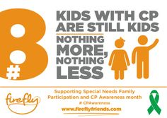 Advocacy banner for cerebral palsy.