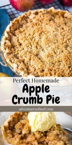 Baked Cinnamon Apples, Spiced Apples, Apple Pie Recipes, Pumpkin Recipes, Thanksgiving Recipes, Fall Recipes, Yummy Yummy, Yummy Food, Apple Crumb Pie