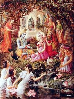 Lord Krishna And Radha Marriage Painting, Lord Krishna, Kanaiya, Radhe Krishna HD Wallpapers For Free