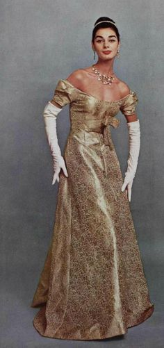 Lanvin Design <3 1956.  I could also almost see this as a Regency Era Gown.
