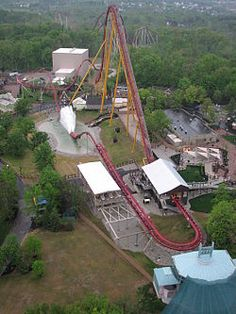 Diamondback is a Bolliger & Mabillard steel hypercoaster located at Kings Island in Mason, Ohio.    The ride is 5,282 feet (1,610 m) long and spans just behind International Street and the Eiffel Tower and over the Rivertown area,  into a wooded area.  The roller coaster contains a splashdown element near the end of the ride in the former Swan Lake area in Rivertown, near The Beast.