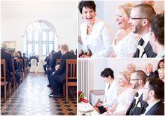 Trauung, Braut, Bräutigam, Trauzeugen und Gäste, Burg Konradsheim, Richterfotografie, Hochzeitsfotograf aus Rostock