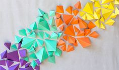 Shoutout: DIY Color Block Geometric Paper Backdrop