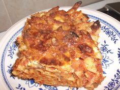 Baked Penne... or as we used to call it, Dirty macaroni. The best!  i love maltese food