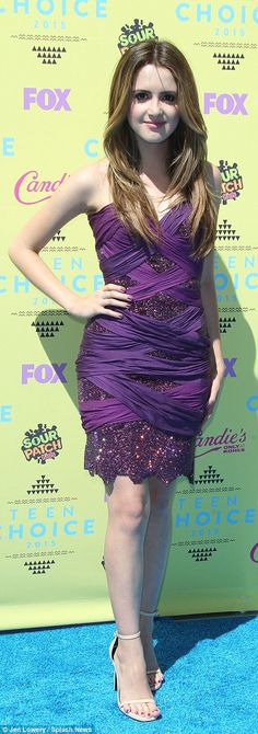 Glam: Greer Grammer and Laura Marano looked pretty in their fitted frocks...