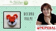 Tutorial - Decoro volpe #crochet fox applique #applique crochet #decoro volpe #volpe #per filo e segno #youtube #video tutorial