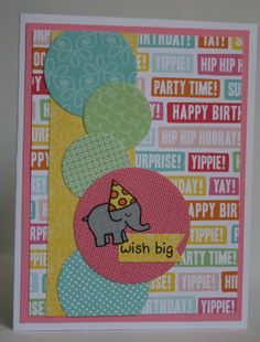 Birthday card using @Lauren Davison Wood Fawn stamps