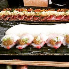 Simple It us Friday feast time Yellowtail sashimi with yuzu foam and some Tataki toro Thanks