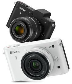 """Nikon 1 Cameras..got this baby for fun with all three lenses......it shoots better than my """"big daddy"""" and fits in my pocketbook, lenses included.....rate it a 10!  white of course......."""
