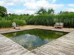 La Jardin Plume. Reflecting pond & Miscanthus