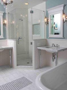 Built in corner shower