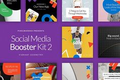 Social Media Booster Kit 2 by PixelBuddha on @creativemarket