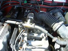 Oil reduction on air intake.