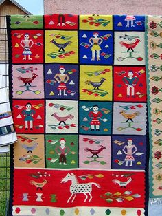 Folk Art Flowers, Flower Art, Folk Embroidery, Traditional Art, Art Gallery, Arts And Crafts, Kids Rugs, Tapestry, Fabric
