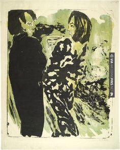 Like this! - Young Couple (Junges Paar)  Emil Nolde (German, 1867-1956)    (1913). Lithograph | CHECK OUT MORE IDEAS AT WEDDINGPINS.NET | #weddings #formal #formalwedding #events #forweddings #iloveformals #romance #beauty #planners #blacktie Emil Nolde, Moma Nyc, Art Moderne, Young Couples, Film Stills, Colorful Pictures, Artist Art, Art Google, Art Oil