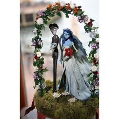 corpse bride wedding cake topper ❤ liked on Polyvore featuring wedding
