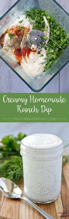 Creamy Hopmemade Ranch Dip - Ready to serve in just minutes!