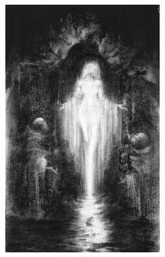 La fée virginale de Lourdes (ii) [2014] Graphite... - mlle ghoul's fairy tales from the shadows