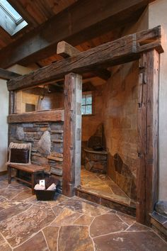 Image result for rustic spa | Grounded Natural Bathroom | Pinterest