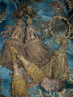 French silk tassels, left is 18th century with chipped gilt header, the right 17th century  I thought I would show you one of the items I co...