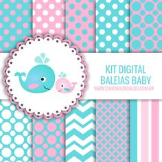 KIT DIGITAL BALEIA BABY FREE PARA BAIXAR - Cantinho do blog