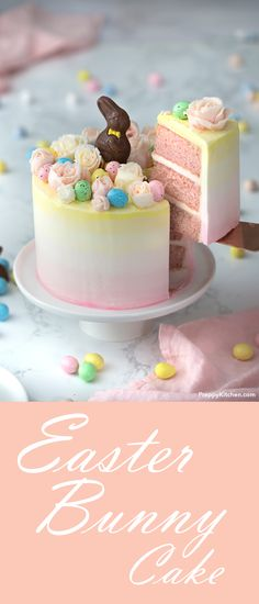 Easter Bunny Cake | Strawberry Cake | Easter eggs Recipe | Cake decorating Ideas | Easter Desserts | Best Cake Recipes | Chocolate Bunny #easter #desserts #cakes #sweets