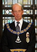 His Royal Highness Prince Edward the Duke of Kent,  Present Grand Master of the United Grand Lodge of England.