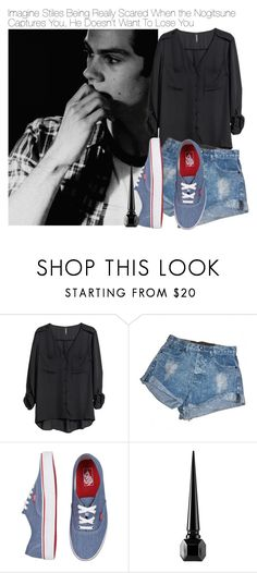 """""""Imagine Stiles Being Really Scared When the Nogitsune Captures You, He Doesn't Want To Lose You"""" by fandomimagineshere ❤ liked on Polyvore featuring H&M, OneTeaspoon, Vans and Christian Louboutin"""
