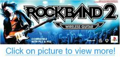 Xbox 360 Rock Band 2 Standalone Guitar: Rock out with the all new authentic wireless Fender Stratocaster replica guitar Xbox 360, Playstation, Ps3, Nintendo Ds, Wii U, Guitar Prices, Fender Stratocaster, Video Game Console, Fun Games