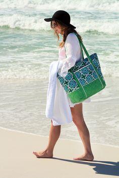 Cinda b beach fashion featuring the Super Tote