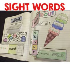 Sight word interactive notebook$