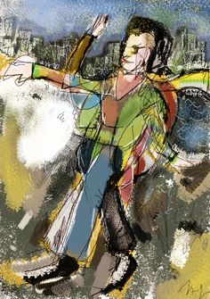 Digital painting made with a brush series of L'ubomir Zabadal, by Americo Gobbo