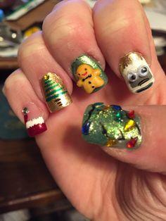 Christmas nails Zoya Ziv & Apple & China Glaze Ruby Pumps
