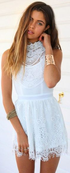 My Fair Lady Lace Playsuit