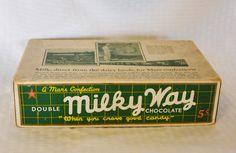 1920s Vintage Milky Way Candy Bar Advertising by MyVintageHatShop