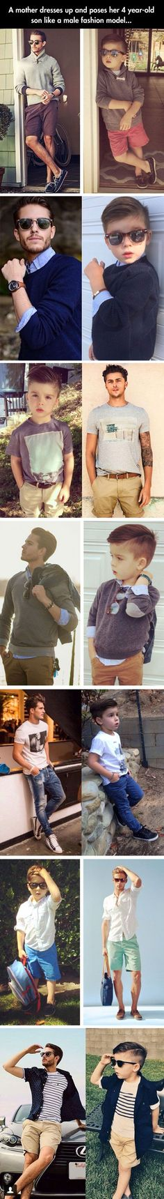 A mother dresses up and poses her 4 year old don like a male fashion model ♠  re-pinned by  http://www.wfpblogs.com/category/a-perfect-gentleman/ @aperfectmale