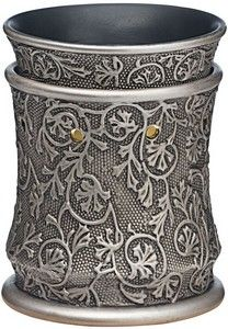 Scentsy Wickless Candles - Silvervine Scentsy Warmer. Scentsy electric warmers gently warm specially formulated, fragranced wax to fill your home with fragrance. Over 50 different styles of warmer to choose from and 80 different wax fragrances.  Silvervine recalls the days of hand-forged metalwork, featuring an ornate, botanical motif on a subtle pattern of tiny beads. £30