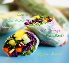 Vegan Summer Rolls  (yet another way to use the bounty from the farmer's market)