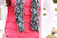 randomly shirred scarf...