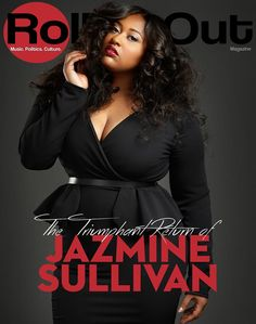 Jazmine Sullivan for Rolling Out http://stylishcurves.com/singer-jazmine-sullivan-is-winning-with-two-smoking-hot-magazine-covers/