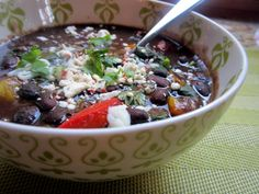 Spicy Caribbean Black Bean Soup. Beans are a great source of folate, along with protein, and this slow-cooker recipe is perfect for preparing in a winter weekend. I'd serve with home-made corn bread and a small salad for a complete and healthy meal.