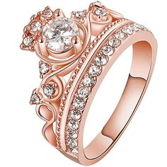 LWLH Jewelry Womens 18Ok Rose Gold Plated Fashion Cubi... - #EngagementRings  (source: jewelrysight.com)
