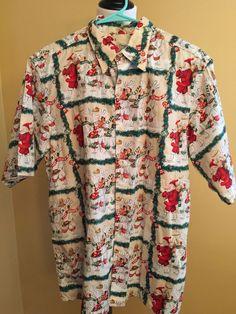 81aa7abe8 Reyn Spooner Hawaiian Christmas Shirt 1999 Guy Buffet Santa Chefs Holiday  Large | eBay