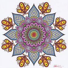 ColorIt Mandalas Volume 2 Colorist: Cindy Hitch #adultcoloring #coloringforadults #adultcoloringpages #mandalas #mandalastocolor