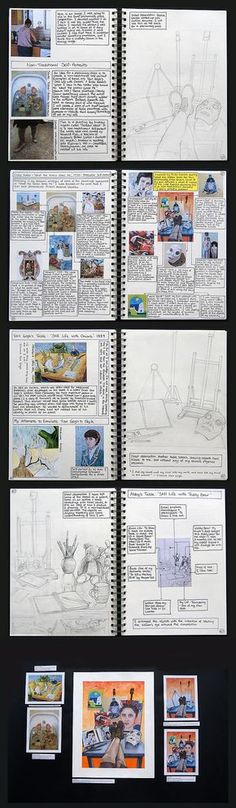 Drawing from observation in art. This section of Abby's A Level Art portfolio shows excellent reference to first-hand sources. Here she completes observational line drawings of still life items (relating to her identity as a young artis A Level Art Sketchbook, Sketchbook Layout, Arte Sketchbook, Sketchbook Pages, Sketchbook Inspiration, Sketchbook Ideas, Sketch Journal, Journal Inspiration, Style Inspiration