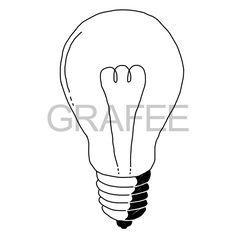 電球(白熱灯)のイラスト