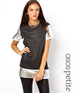 ASOS PETITE Exclusive T-shirt With Metallic Trim - was $59.26, now $35.19 (41% Off). Picked by amyb @ Asos.com